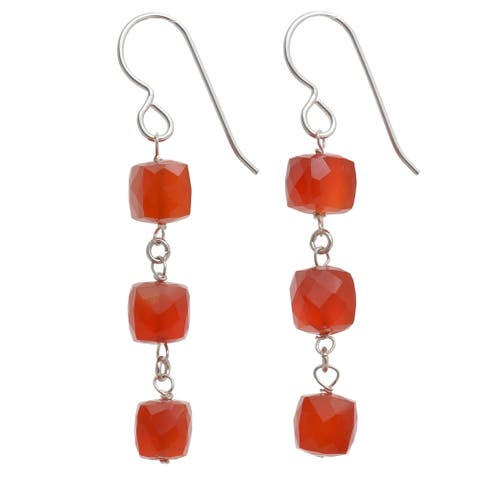 Carnelian Handmade Silver Earrings