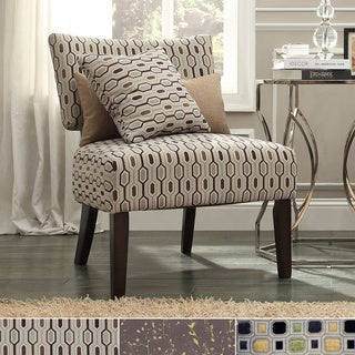 Draper Armless Print Fabric Accent Chair by INSPIRE Q