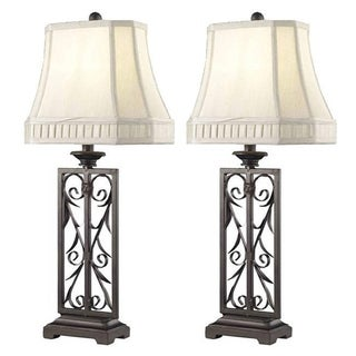 Somette 1-light Brown Table Lamps (Set of 2)