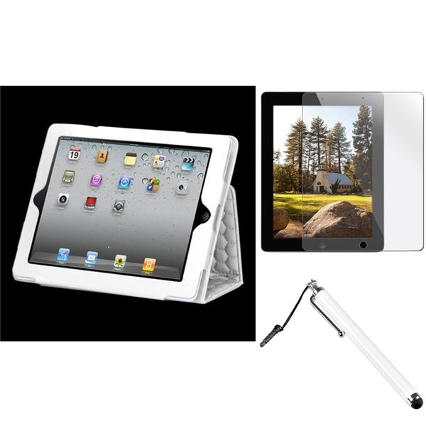 INSTEN Tablet Case Cover/ Stylus/ Screen Protector for Apple iPad 2/ 3/ 4