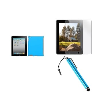 INSTEN SmartSlim Tablet Case Cover/ Protector/ Stylus for Apple iPad 2/ 3/ 4