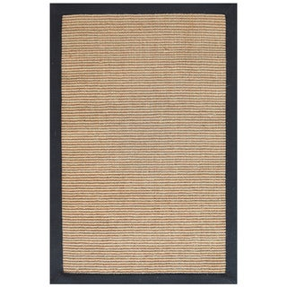 Hand-woven Sisal Black Jute Rug (9' x 12')