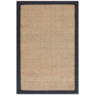 Hand-woven Sisal Black Jute Rug (9' x 12') - 9' x 12'