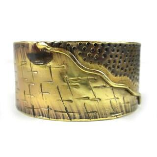 Handmade Convergence Brass Cuff (South Africa)