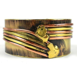 Handmade Copper Directions Brass Cuff (South Africa)