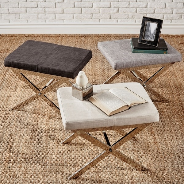 INSPIRE Q Southport Linen 22-inch Metal Bench