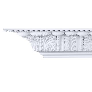 Beaded Acanthus 6-inch Crown Molding (Pack of 8)