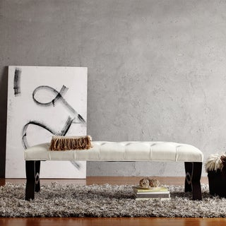 INSPIRE Q Wellington White Faux Leather Arched Base Bench