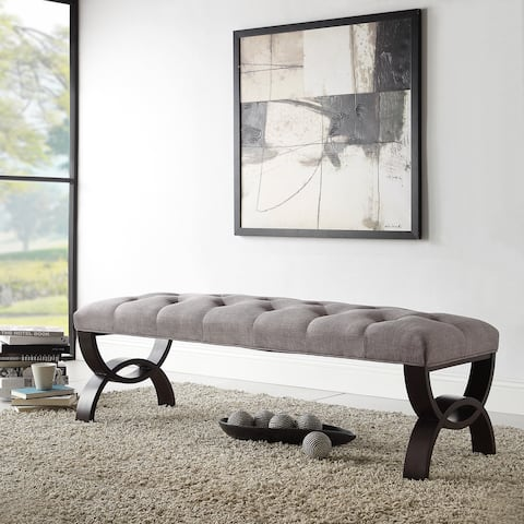 Wellington Grey Linen Arched Base Bench by iNSPIRE Q Classic