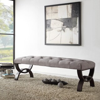 Wellington Grey Linen Arched Base Bench by INSPIRE Q