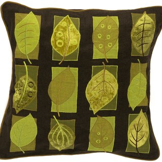 Surya Green Leaves 22-inch Decorative Throw Pillow