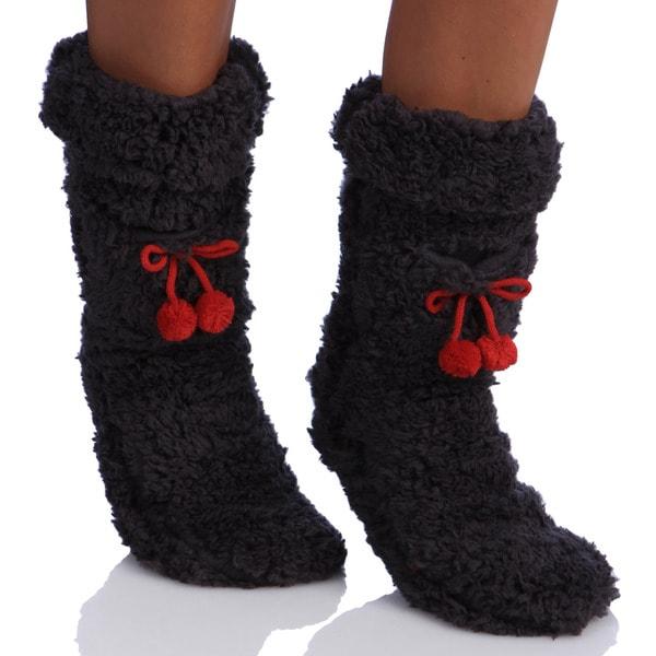 MINX Women's Super Fluffy Socks