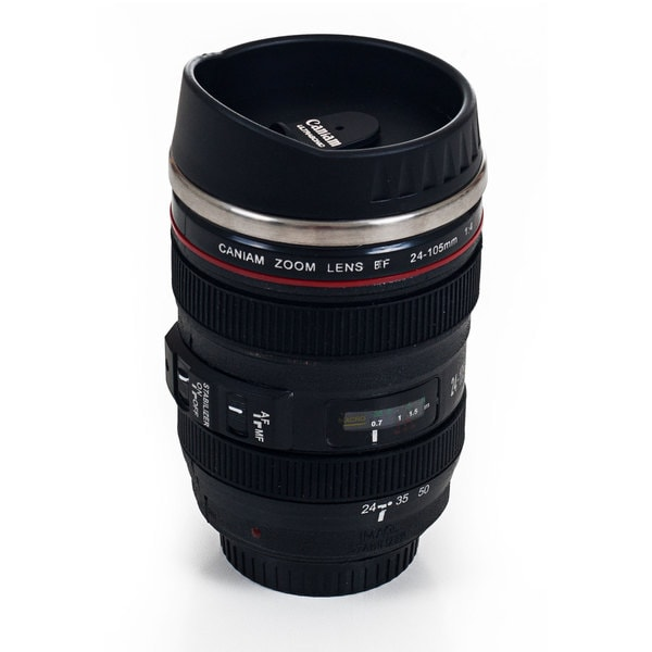 Camera Lens Stainless Steel Coffee Mug with Lid - Free Shipping On Orders  Over $45 - Overstock.com - 15502713