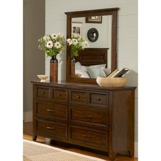 Laurel Creek Dresser And Landscape Mirror Set