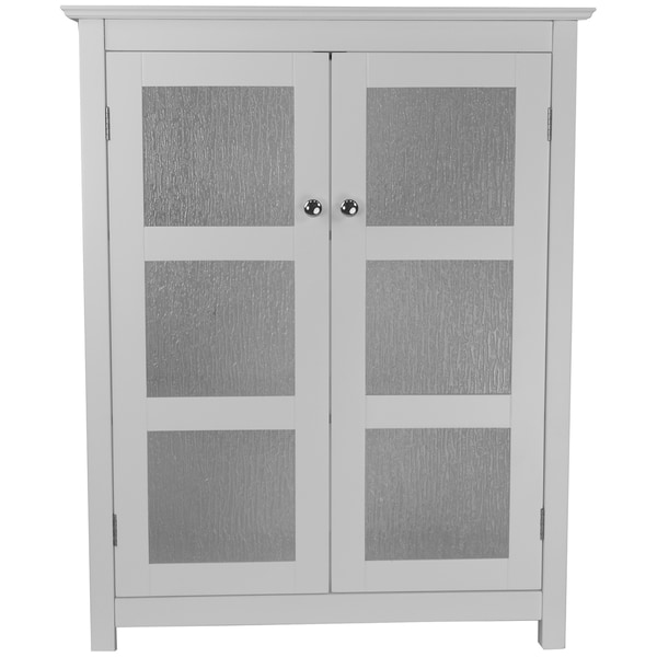 Shop Highland White Double Glass Door Floor Cabinet By