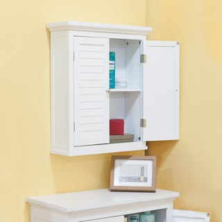 Bayfield White Finish Cabinet With Shutter Doors by Essential Home Furnishings