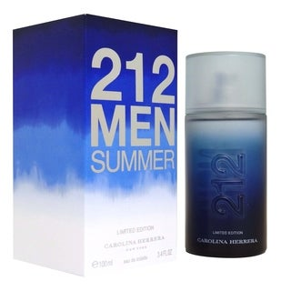 Carolina Herrera 212 Men's 3.4-ounce Eau d e Toilette Spray (Summer Limited Edition)