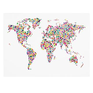 Michael Tompsett 'Stars World Map' Canvas Art