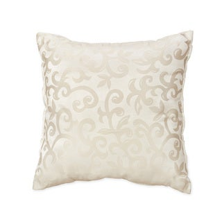 Sweet Jojo Designs Champagne and Ivory Victoria Decorative Accent Throw Pillow (As Is Item)
