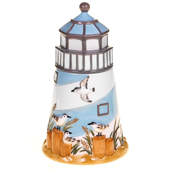 Certified International Beach Cottage 3-D Cookie Jar