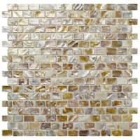 SomerTile 11.75x11.75-inch Seashell Subway Natural Seashell Mosaic Wall Tile (10 tiles/9.6 sqft.)