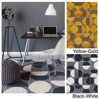 Hand-tufted Allie Geometric Wool Rug - 5' x 7'6