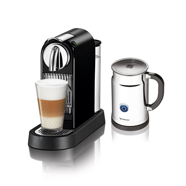 Nespresso CitiZ Black Espresso Maker and Milk Frother (Refurbished)