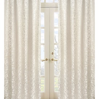 Sweet Jojo Designs Ivory and Champagne 84-inch Window Treatment Curtain Panel Pair for Victoria Collection - 42 x 84