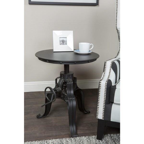 Kosas Home Howard Iron Height-adjustable Round Table