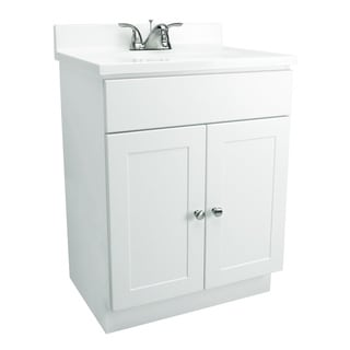 Design House Bath-In-A-Box White 2-Door Vanity Bathroom Cabinet