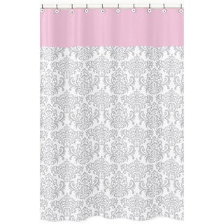 Sweet Jojo Designs Elizabeth Damask Cotton Shower Curtain
