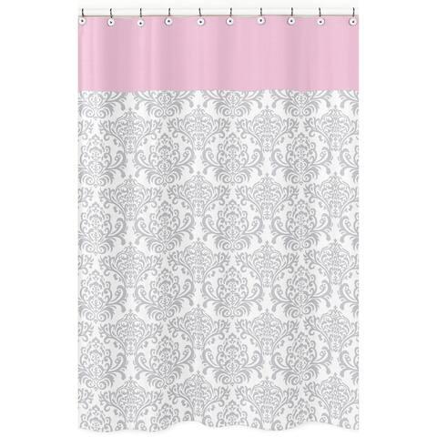 Sweet Jojo Designs Elizabeth Damask Cotton Shower Curtain