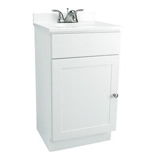 Design House Bath-In-A-Box 1-Door White Vanity Bathroom Cabinet