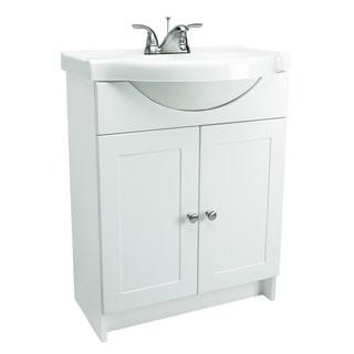Design House Bath-In-A-Box 2-Door White Vanity Bathroom Cabinet