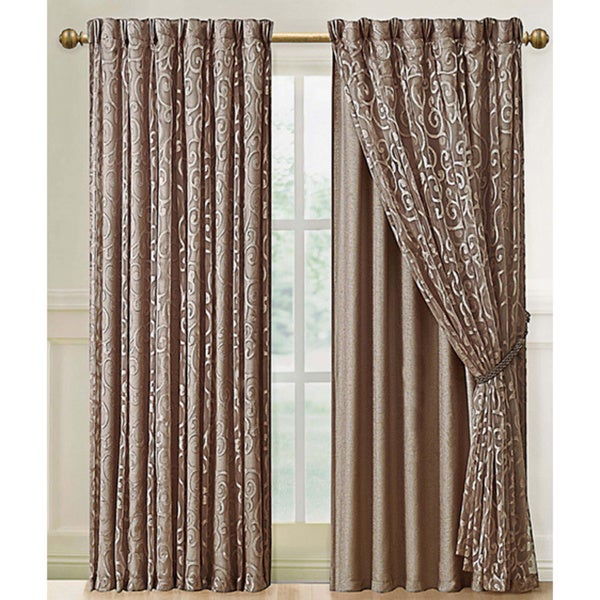 VCNY Irena Curtain Panel with Attached Backing