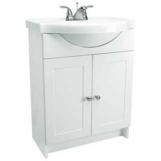 Design House Bath-In-A-Box White 2-Door Vanity Bathroom Cabinet