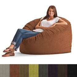 FufSack Wide Wale Corduroy 4-foot Large Bean Bag Chair
