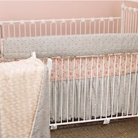 Cotton Tale Tea Party Front Rail Cover Up Crib Bedding Set