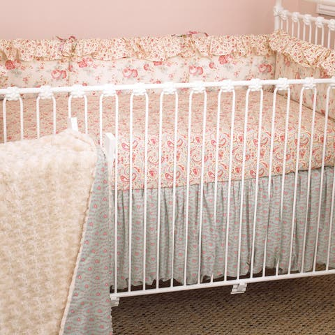 Cotton Tale Tea Party 4-piece Crib Bedding Set