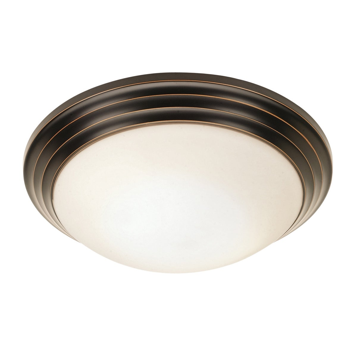 Access Strata 1-light Oil-rubbed Bronze Flush-Mount (Oil-...