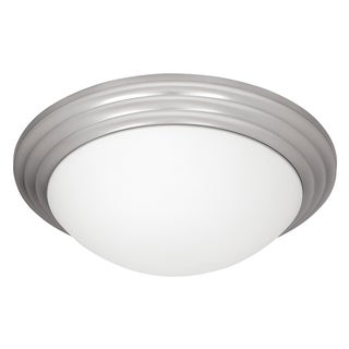 Access Strata 1-light Brushed Steel Flush Mount