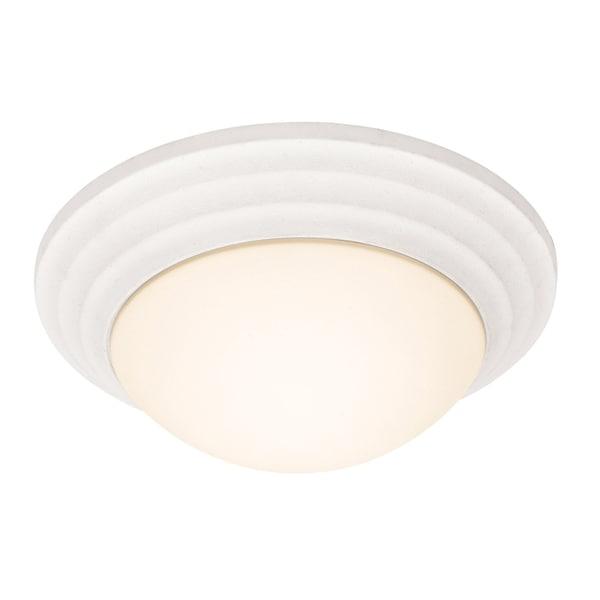 Access Strata 1-light Textured White Flush-Mount