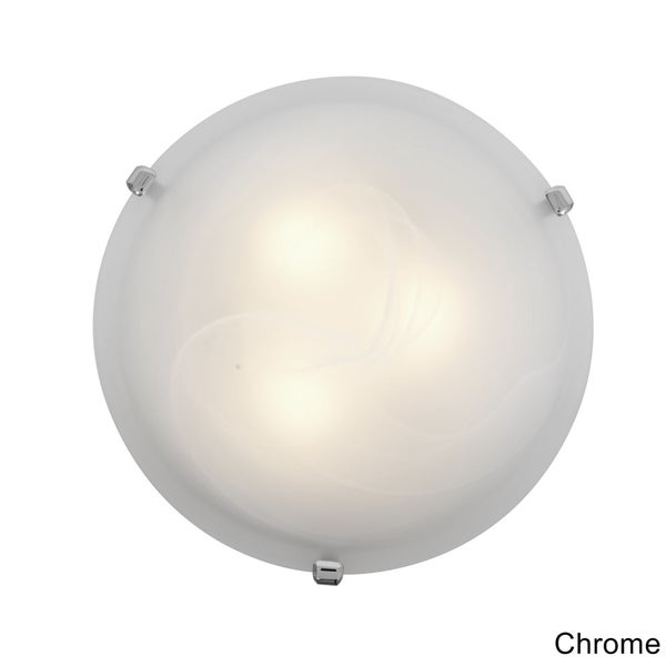 Access Mona 2-light Alabaster Glass 12-inch Flush Mount