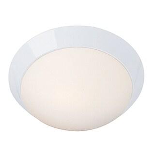 Access Cobalt 2-light White Energy Efficient 13-inch Flush Mount