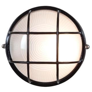 Access Nauticus 1-light Black Wet Location 7-inch Bulkhead