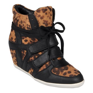 Journee Collection Women's 'Alana-Leo' Lace-up Wedge High Tops