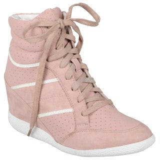 Hailey Jeans Co. Women's 'Bethany-07' Lace-up Wedge High-top Shoes