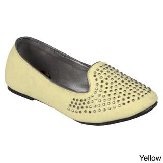 Journee Girl's 'K-heff-stud' Studded Round Toe Flats