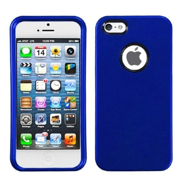 INSTEN Titanium Solid Dark Blue Phone Case Cover for Apple iPhone 5
