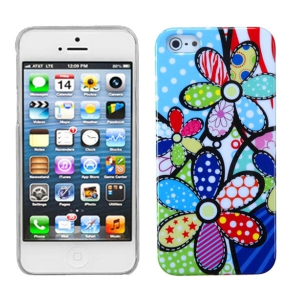 INSTEN Flowers Patchwork Phone Back Protector Phone Case Cover for Apple iPhone 5